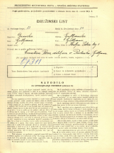 Popis prebivalstva 31. 3. 1931<br />Ljubljana<br />Kralja Petra trg 3<br />Population census 31 March 1931