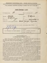 Popis prebivalstva 31. 3. 1931<br />Ljubljana<br />Križevniška ulica 14<br />Population census 31 March 1931