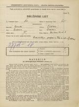 Popis prebivalstva 31. 3. 1931<br />Ljubljana<br />Križevniška ulica 8<br />Population census 31 March 1931