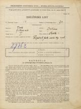 Popis prebivalstva 31. 3. 1931<br />Ljubljana<br />Krojaška ulica 1<br />Population census 31 March 1931