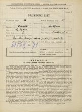 Popis prebivalstva 31. 3. 1931<br />Ljubljana<br />Levčeva ulica 11<br />Population census 31 March 1931