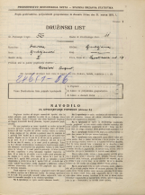Popis prebivalstva 31. 3. 1931<br />Ljubljana<br />Levstikova ulica 19<br />Population census 31 March 1931