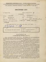 Popis prebivalstva 31. 3. 1931<br />Ljubljana<br />Mala čolnarska ulica 12<br />Population census 31 March 1931