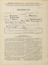 Popis prebivalstva 31. 3. 1931<br />Ljubljana<br />Mala čolnarska ulica 14<br />Population census 31 March 1931