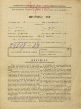 Popis prebivalstva 31. 3. 1931<br />Ljubljana<br />Mala čolnarska ulica 3<br />Population census 31 March 1931