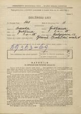 Popis prebivalstva 31. 3. 1931<br />Ljubljana<br />Malgajeva ulica 13<br />Population census 31 March 1931