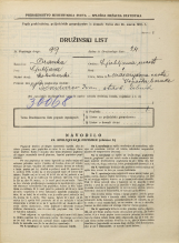 Popis prebivalstva 31. 3. 1931<br />Ljubljana<br />Masarykova cesta NN5<br />Population census 31 March 1931