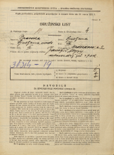 Popis prebivalstva 31. 3. 1931<br />Ljubljana<br />Medvedova cesta 2<br />Population census 31 March 1931