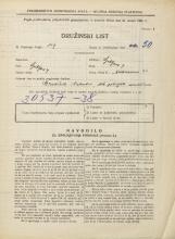 Popis prebivalstva 31. 3. 1931<br />Ljubljana<br />Medvedova cesta 26<br />Population census 31 March 1931