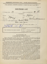 Popis prebivalstva 31. 3. 1931<br />Ljubljana<br />Medvedova cesta 9<br />Population census 31 March 1931