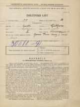 Popis prebivalstva 31. 3. 1931<br />Ljubljana<br />Mencingerjeva ulica 19<br />Population census 31 March 1931