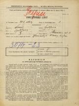 Popis prebivalstva 31. 3. 1931<br />Ljubljana<br />Merosodna ulica 1<br />Population census 31 March 1931