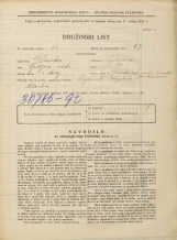 Popis prebivalstva 31. 3. 1931<br />Ljubljana<br />Mesarska cesta NN10<br />Population census 31 March 1931