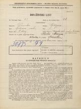 Popis prebivalstva 31. 3. 1931<br />Ljubljana<br />Mesarska cesta NN12<br />Population census 31 March 1931