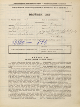 Popis prebivalstva 31. 3. 1931<br />Ljubljana<br />Mesarska cesta NN13<br />Population census 31 March 1931