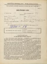 Popis prebivalstva 31. 3. 1931<br />Ljubljana<br />Mesarska cesta NN15<br />Population census 31 March 1931
