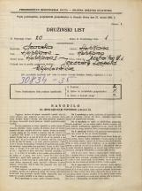 Popis prebivalstva 31. 3. 1931<br />Ljubljana<br />Mestni trg 1<br />Population census 31 March 1931