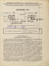 Popis prebivalstva 31. 3. 1931<br />Ljubljana<br />Mestni trg 12<br />Population census 31 March 1931