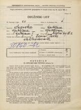 Popis prebivalstva 31. 3. 1931<br />Ljubljana<br />Mestni trg 2<br />Population census 31 March 1931