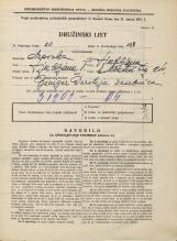 Popis prebivalstva 31. 3. 1931<br />Ljubljana<br />Mestni trg 24<br />Population census 31 March 1931