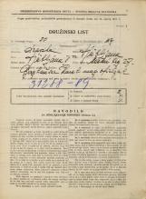 Popis prebivalstva 31. 3. 1931<br />Ljubljana<br />Mestni trg 27<br />Population census 31 March 1931
