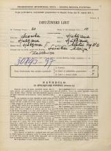 Popis prebivalstva 31. 3. 1931<br />Ljubljana<br />Mestni trg 6<br />Population census 31 March 1931