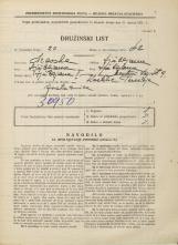 Popis prebivalstva 31. 3. 1931<br />Ljubljana<br />Mestni trg 9<br />Population census 31 March 1931