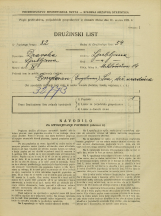 Popis prebivalstva 31. 3. 1931<br />Ljubljana<br />Miklošičeva cesta 14<br />Population census 31 March 1931