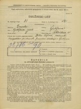 Popis prebivalstva 31. 3. 1931<br />Ljubljana<br />Miklošičeva cesta 15<br />Population census 31 March 1931