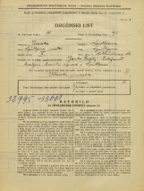 Popis prebivalstva 31. 3. 1931<br />Ljubljana<br />Miklošičeva cesta 26<br />Population census 31 March 1931