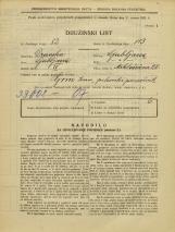 Popis prebivalstva 31. 3. 1931<br />Ljubljana<br />Miklošičeva cesta 28<br />Population census 31 March 1931