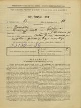 Popis prebivalstva 31. 3. 1931<br />Ljubljana<br />Miklošičeva cesta 36<br />Population census 31 March 1931