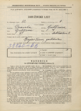 Popis prebivalstva 31. 3. 1931<br />Ljubljana<br />Miklošičeva cesta 4<br />Population census 31 March 1931