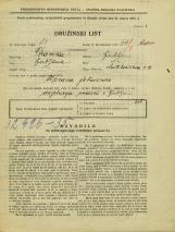 Popis prebivalstva 31. 3. 1931<br />Ljubljana<br />Miklošičeva cesta 9<br />Population census 31 March 1931