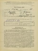 Popis prebivalstva 31. 3. 1931<br />Ljubljana<br />Mirje 13<br />Population census 31 March 1931