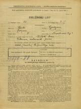 Popis prebivalstva 31. 3. 1931<br />Ljubljana<br />Napoleonov trg 1<br />Population census 31 March 1931