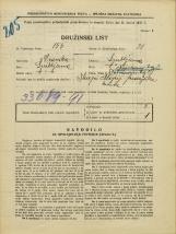 Popis prebivalstva 31. 3. 1931<br />Ljubljana<br />Napoleonov trg 2<br />Population census 31 March 1931