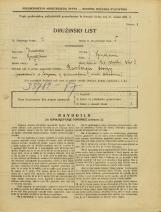 Popis prebivalstva 31. 3. 1931<br />Ljubljana<br />Na stolbi 8<br />Population census 31 March 1931