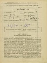 Popis prebivalstva 31. 3. 1931<br />Ljubljana<br />Novi trg 2<br />Population census 31 March 1931