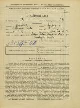 Popis prebivalstva 31. 3. 1931<br />Ljubljana<br />Novi trg 3<br />Population census 31 March 1931