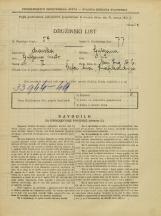 Popis prebivalstva 31. 3. 1931<br />Ljubljana<br />Novi trg 6<br />Population census 31 March 1931