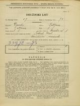 Popis prebivalstva 31. 3. 1931<br />Ljubljana<br />Nunska ulica 8<br />Population census 31 March 1931