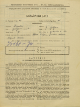 Popis prebivalstva 31. 3. 1931<br />Ljubljana<br />Opekarska cesta 12<br />Population census 31 March 1931