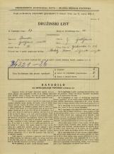 Popis prebivalstva 31. 3. 1931<br />Ljubljana<br />Opekarska cesta 22<br />Population census 31 March 1931