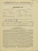 Popis prebivalstva 31. 3. 1931<br />Ljubljana<br />Orlova ulica 7<br />Population census 31 March 1931