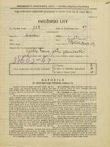 Popis prebivalstva 31. 3. 1931<br />Ljubljana<br />Pleteršnikova ulica 19<br />Population census 31 March 1931