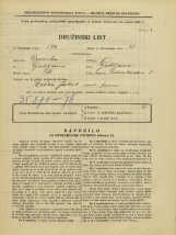 Popis prebivalstva 31. 3. 1931<br />Ljubljana<br />Podmilščakova ulica 5<br />Population census 31 March 1931