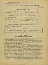 Popis prebivalstva 31. 3. 1931<br />Ljubljana<br />Pod gozdom 1<br />Population census 31 March 1931