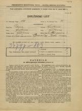 Popis prebivalstva 31. 3. 1931<br />Ljubljana<br />Pod gozdom 2<br />Population census 31 March 1931