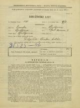 Popis prebivalstva 31. 3. 1931<br />Ljubljana<br />Pod Turnom 4<br />Population census 31 March 1931